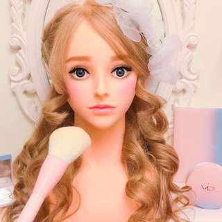Nana 100%真人髮 假人頭 奶茶色 立體仿真眼珠 新娘秘書 編髮盤髮 造型專用 含肩膀