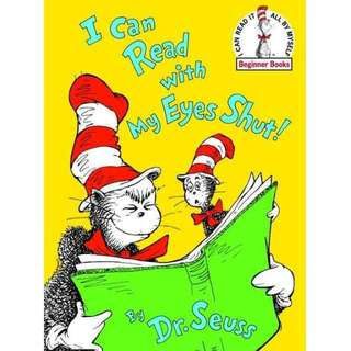 I Can Read with My Eyes Shut! - Hardcover