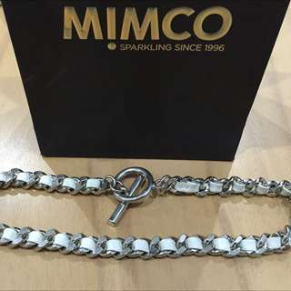 White Toggle Mimco Necklace