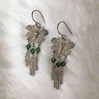 Silver 925 Filigree Earrings With Swarovski Crystals