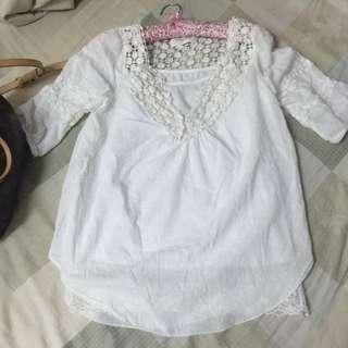 兩件式棉麻衫