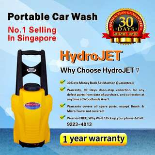 Portable Car Washer - 1 year warranty - All spare parts covered