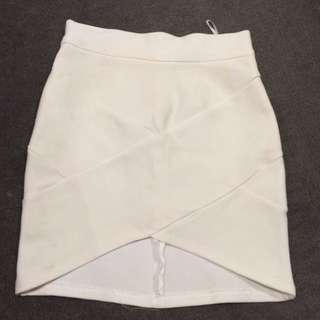 White bandage skirt