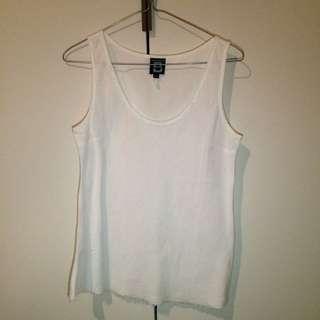 Bensimon white linen singlet top