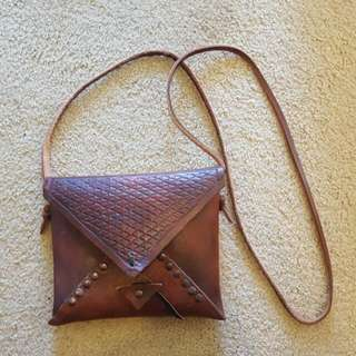 Gorgeous One Of A Kind Crossbody Leather Bag