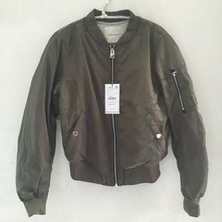 For Her Pull&bear Silk Satin Bomber Jacket Ukuran M&S