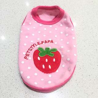 Pink Polka Dot Strawberry Pet Outfit