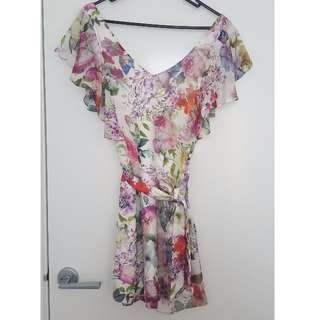 Forever New silk floral mini dress