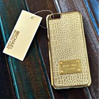 NEW MICHAEL KORS CROCODILE TEXTURE DESIGN GOLD IPHONE 6 COVER