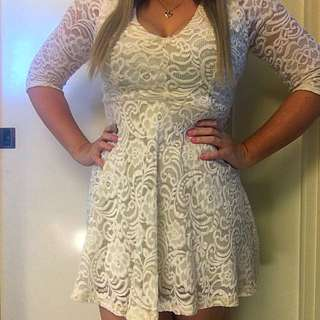 Just Me White Dress