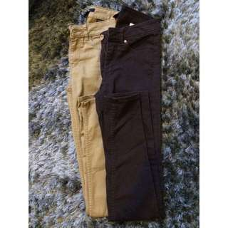 2 H&M Slim Fit Trousers