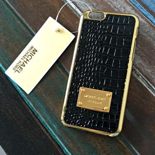 NEW MICHAEL KORS CROCODILE TEXTURE DESIGN BLACK IPHONE 6 COVER