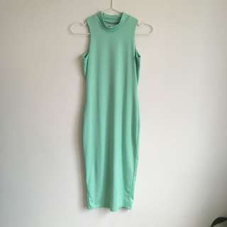 Misha Collection Green Fitted Dress