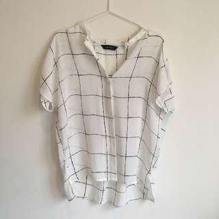 Decjuba Shirt Short Sleeve Size Small