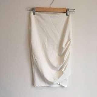 Tiger Mist White Pencil Skirt