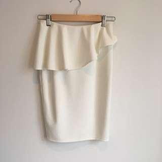 Tiger Mist Ruffle Pencil Skirt