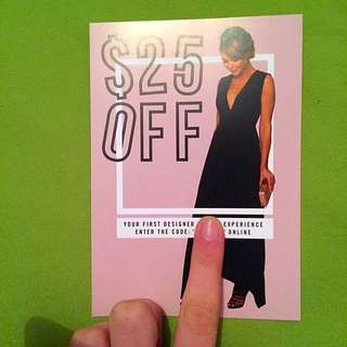 $25 Voucher For Her Wardrobe (rentals)