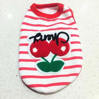 Baby Pet Cherries Print Outfit