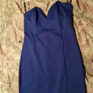 PENDING Blue Mini Dress