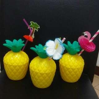 鳳梨造型水杯 飲料杯 置物盒 擺件 pineapple