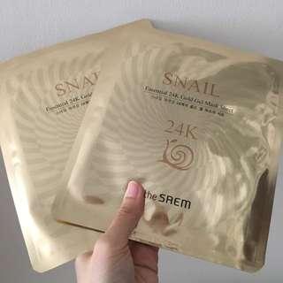 The Saem Snail 24k Gold Gel Mask Sheet