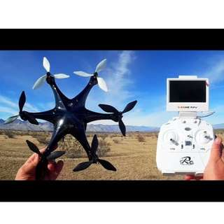 Hexacopter with Camera, LCD screen and FPV (5.8Ghz)