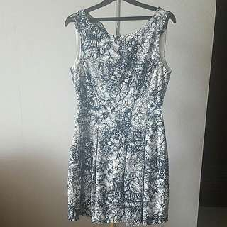 Zara Black Flower Dress