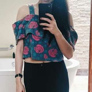 Summer Floral Cropped Top