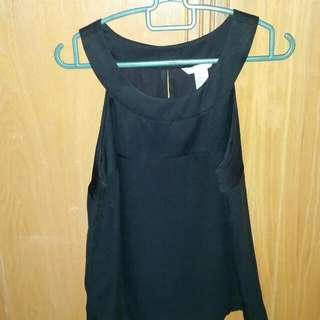 H&M Silky Black Sleeveless Top