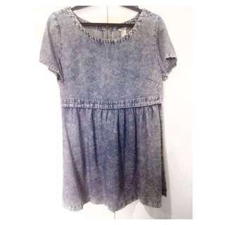 Forever21 Denim Mini Babydoll Dress