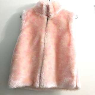 As New Girls Fluffy Vest Age 7-10