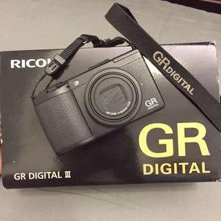 【送32G+防水袋+座充】Ricoh GR Digital III 標準版 大光圈 細緻 高畫質 文青機