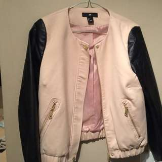 H&M Leather And Viscose Jacket