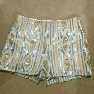 [REDUCED] VT Sequinned Shorts (Size 3)
