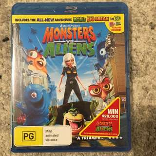 Brand New and Sealed Dreamworks Monsters VS Aliens Blu-Ray