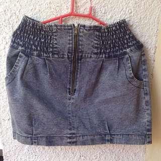Acid Wash Blue Skirt