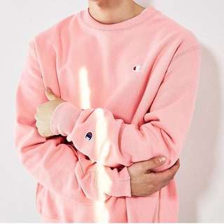 (降價)Champion ✖️ U.O. 粉紅色衛衣 大學T