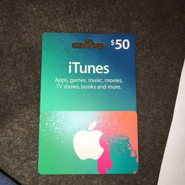 $50 iTunes Gift Card