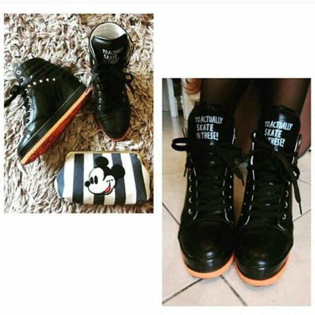 個性內增高黑色靴