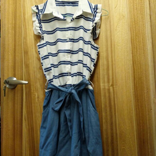 展示衣特賣 牛仔連身背心裙