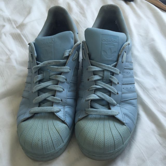 cf1e2f7ada2a5 Pharrell Williams Adidas Superstar Supercolor Baby Blue Shoe UK 9.5 ...