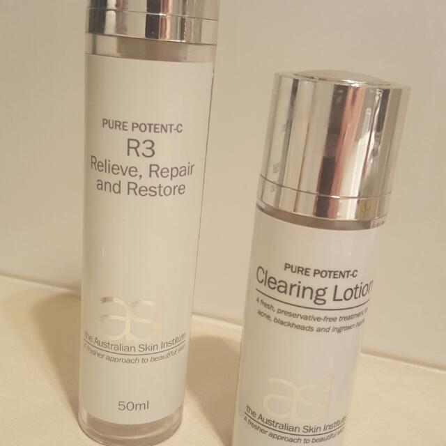 *REDUCED* ASI Pure Potent-C - 1 x R3 and 1 x Clearing Lotion - Used