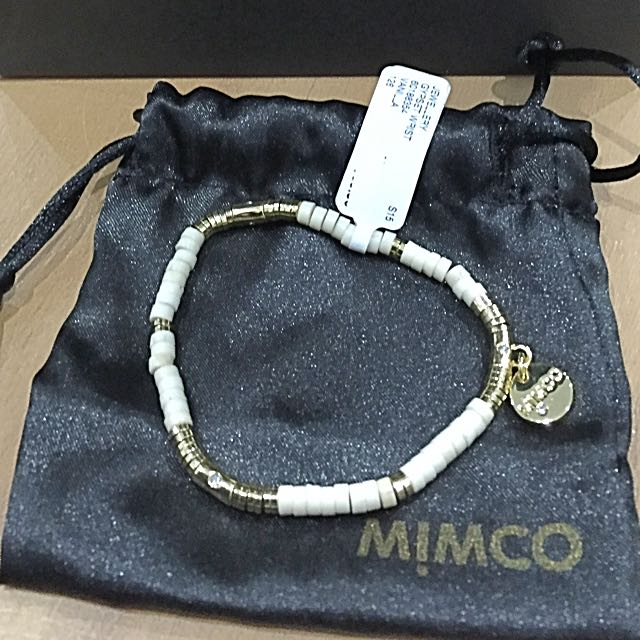 Brand New Mimco Gold & White Bracelet