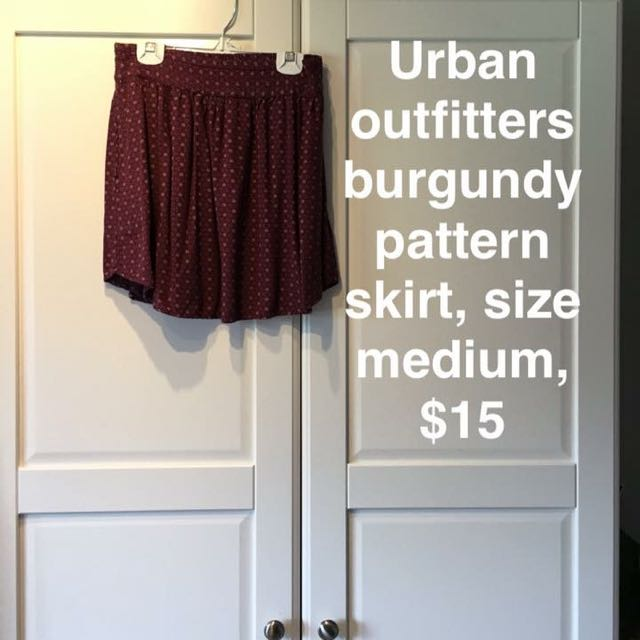 Burgundy Pattern Skirt
