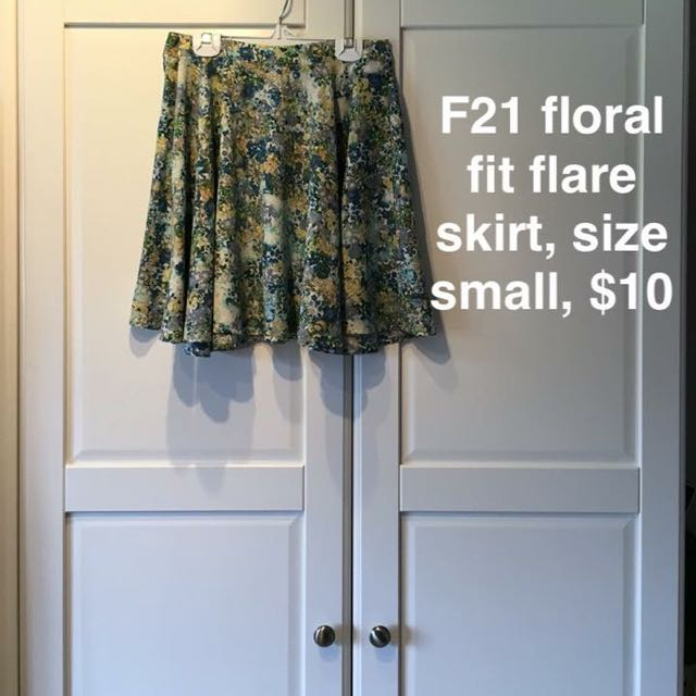 Floral Fit/Flare Skirt
