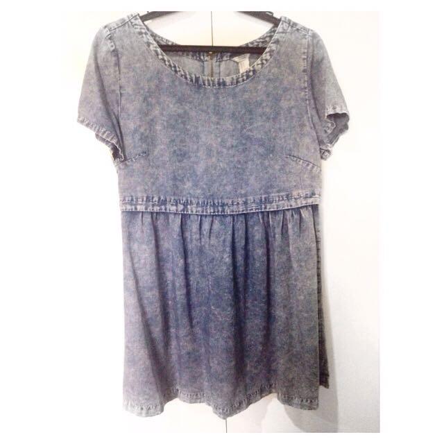 Forever21 Denim Mini Babydoll Dress