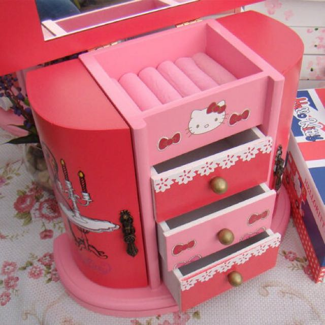 Hello Kitty Wooden Casket Furniture On Carousell