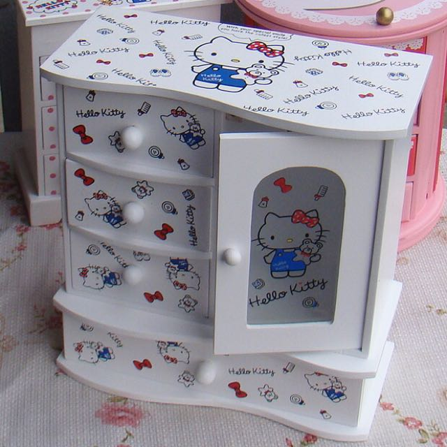 Hello Kitty Wooden Casketwhite And Pink Furniture On Carousell