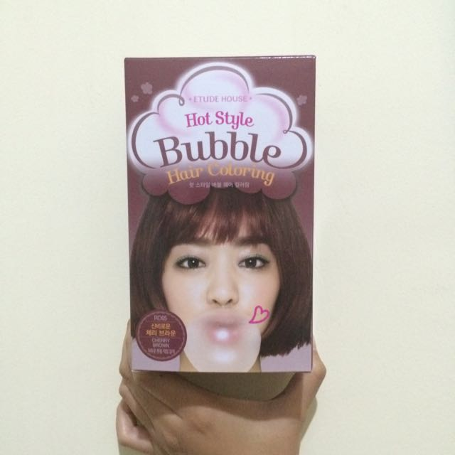 Hot Style Bubble Hair Coloring Cherry Brown