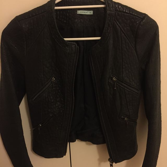 Kookai Leather Jacket Size 34